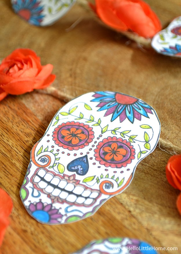 Diy Sugar Skull Banner With Free Printable And Tutorial Hello