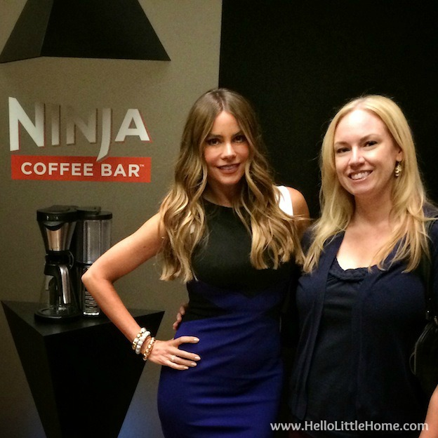 Me and Sofia Vergara at the Ninja Coffee Bar event! | Hello Little Home