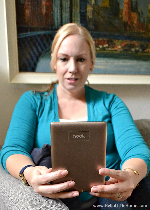 Relaxing with the NOOK GlowLight Plus! | Hello Little Home