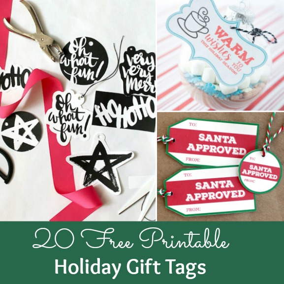 20 FREE printable holiday gift tags ... perfect for decorating all your Christmas packages! | Hello Little Home