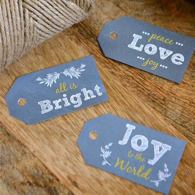 Free Chalkboard Gift Tags