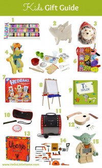 Our Kids Gift Guide has something for every child on our list! Plus, get the tutorial for our DIY Kids Fishing Game! | Hello Little Home
