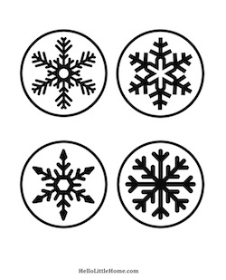 Diy wood slice snowflake coasters for Coaster size template