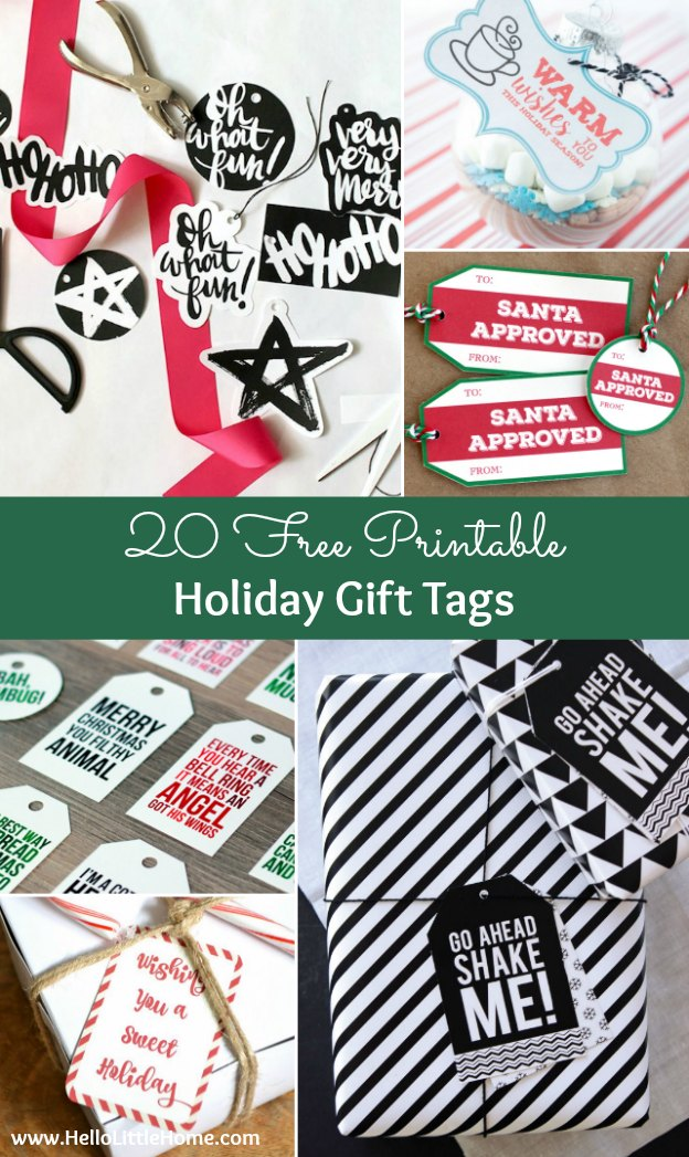 20 free printable holiday gift tagsg 20 free printable holiday gift tags perfect for decorating all your christmas packages negle Choice Image