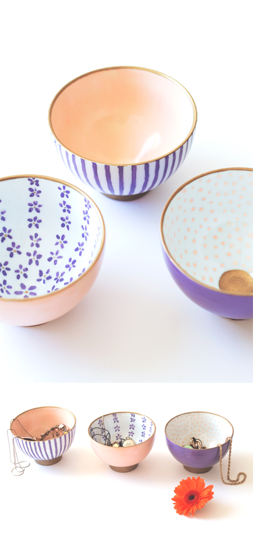 Japanes Painted Bowls from the Lovely Drawer, featured on The Ultimate DIY Christmas Gift Guide: 50+ Gift Ideas for Everyone on Your List! | Hello Little Home