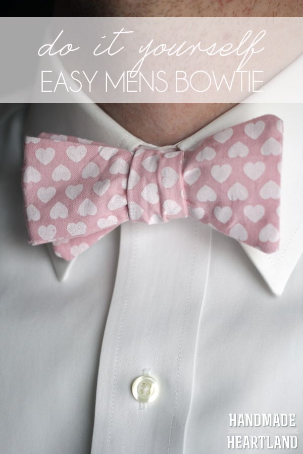 Easy Mens Bowtie from Handmade in the Heartland, featured on The Ultimate DIY Christmas Gift Guide: 50+ Gift Ideas for Everyone on Your List! | Hello Little Home