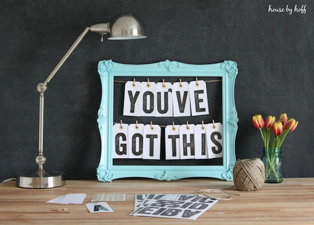 Message Board from House of Hoff featured on The Ultimate DIY Christmas Gift Guide: 50+ Gift Ideas for Everyone on Your List! | Hello Little Home