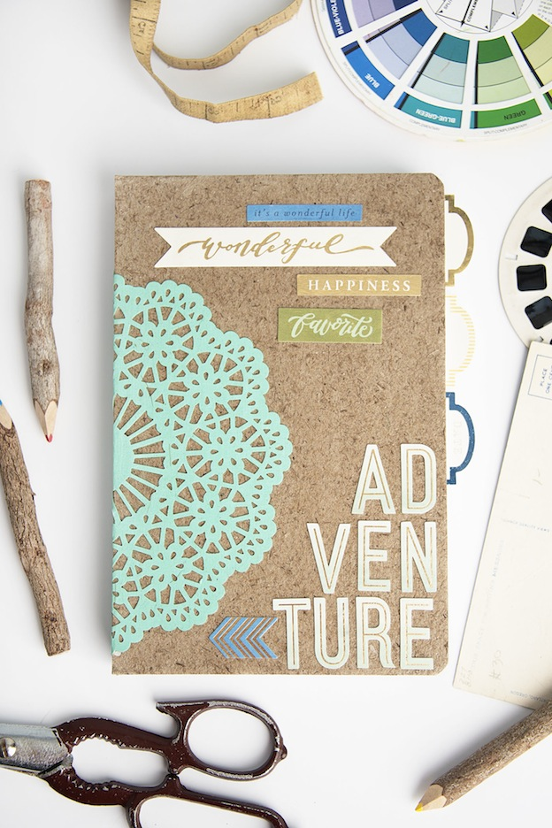 Adventure Notepad from Mod Podge Rocks, featured on The Ultimate DIY Christmas Gift Guide: 50+ Gift Ideas for Everyone on Your List! | Hello Little Home