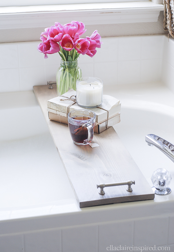 Bathtub Tray from Lil' Luna, featured on The Ultimate DIY Christmas Gift Guide: 50+ Gift Ideas for Everyone on Your List! | Hello Little Home