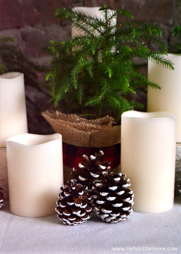 Easy Chrismtas Centerpiece that would be perfect for a round table. | Hello Little Home