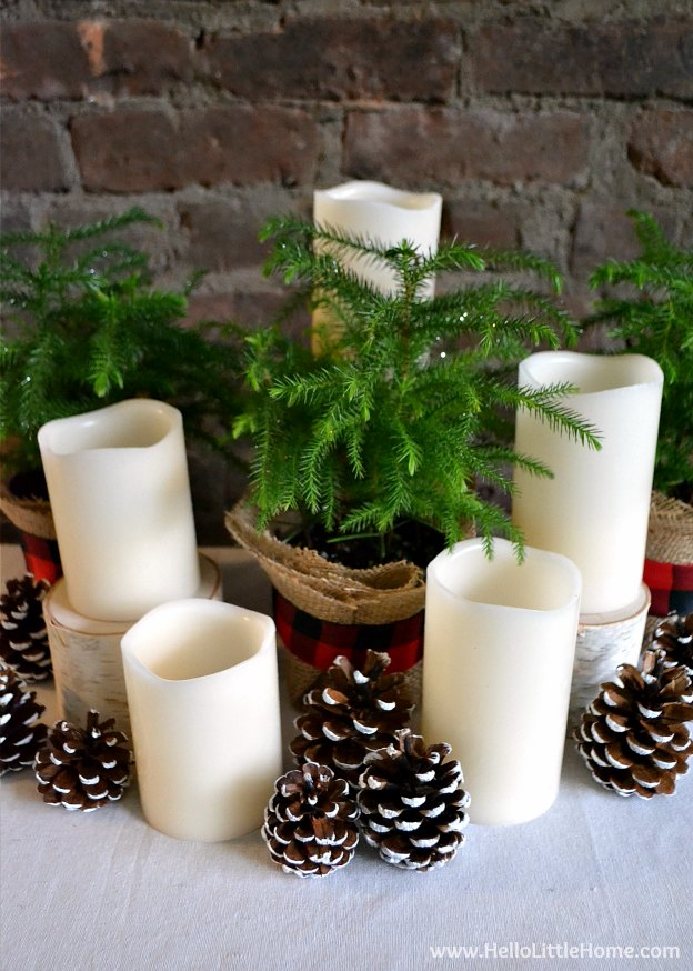 Elegant Christmas Centerpiece on Table | Hello Little Home