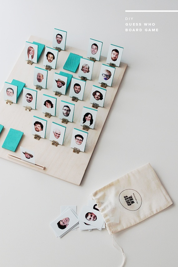 Guess Who Game from Almost Makes Perfect, featured on The Ultimate DIY Christmas Gift Guide: 50+ Gift Ideas for Everyone on Your List! | Hello Little Home