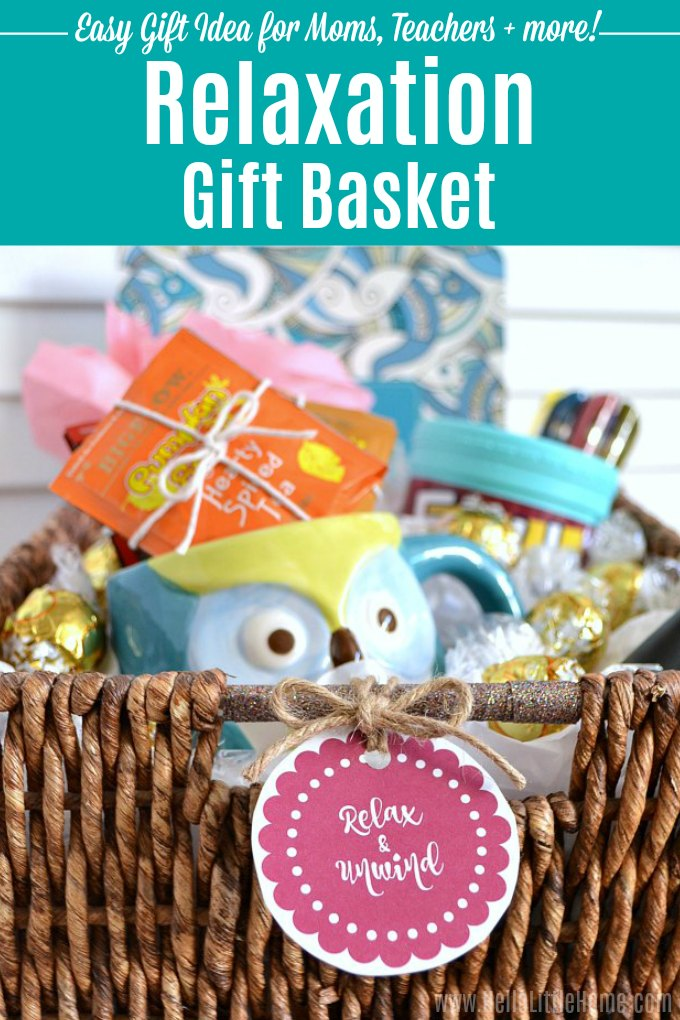 Diy Relaxation Gift Basket A Fun Easy Gift Idea