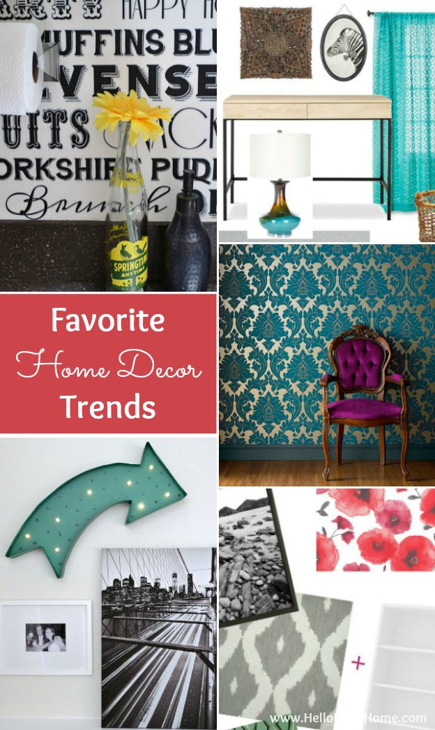 Get inspired by my favorite Home Decor Trends + plenty of tips and DIY projects for acheiving them! | Hello Little Home