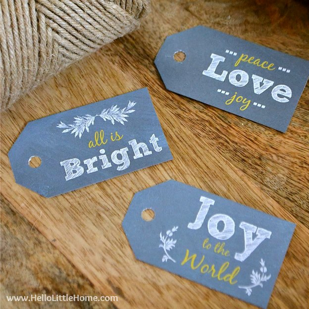 Chalkboard Gift Tags. One of 20 FREE printable holiday gift tags ... perfect for decorating all your Christmas packages! | Hello Little Home