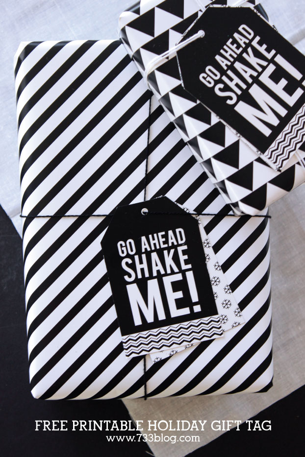Shake Me Holiday Tags from Seven Thirty Three