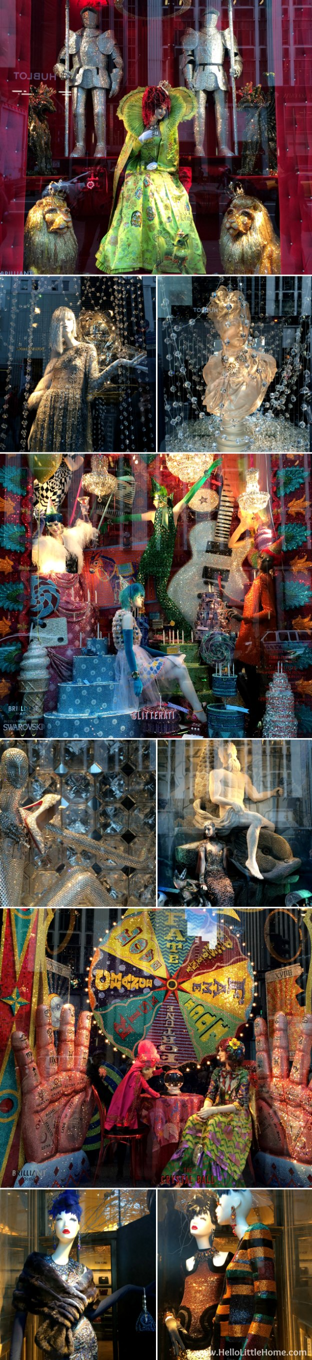 Join me on my NYC Holiday Tour 2015 of Christmas window displays, trees, and lights! Bergdorf Goodman | Hello Little Home