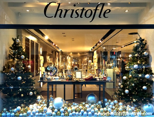 Join me on my NYC Holiday Tour 2015 of Christmas window displays, trees, and lights! Cristofle | Hello Little Home