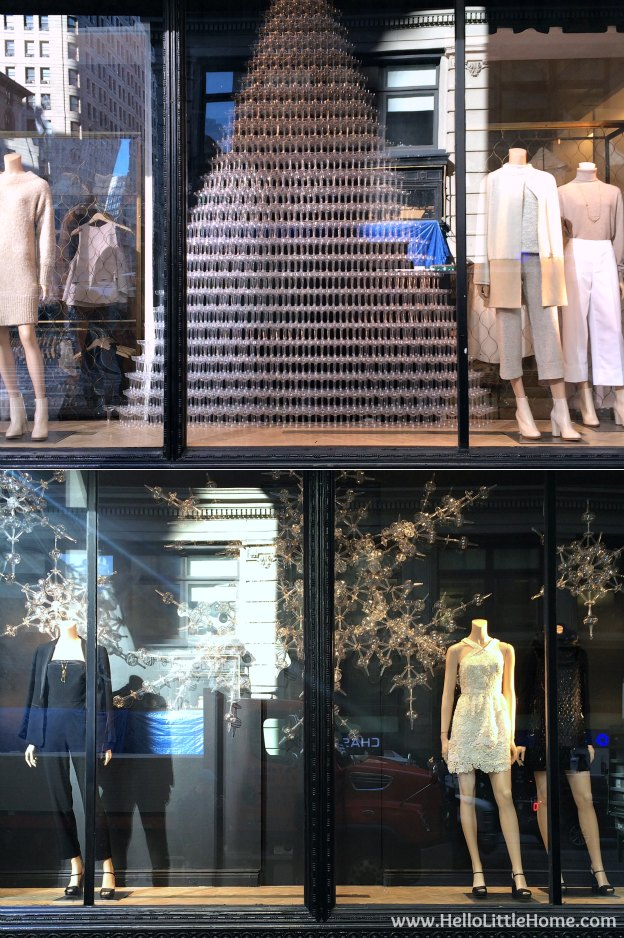 Join me on my NYC Holiday Tour 2015 of Christmas window displays, trees, and lights! Club Monaco | Hello Little Home