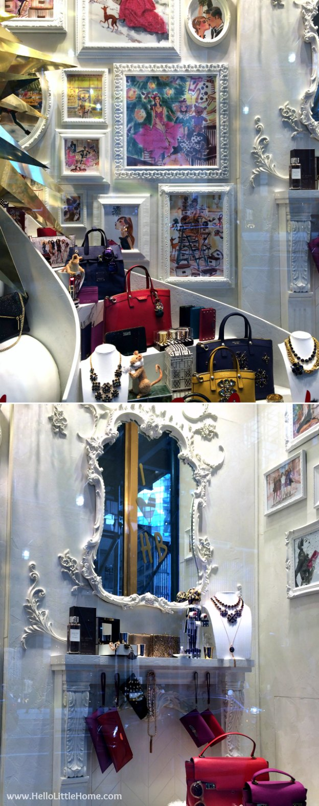 Join me on my NYC Holiday Tour 2015 of Christmas window displays, trees, and lights! Henri Bendel | Hello Little Home