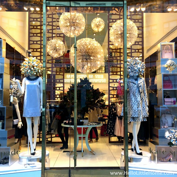 Join me on my NYC Holiday Tour 2015 of Christmas window displays, trees, and lights! Kate Spade New York | Hello Little Home