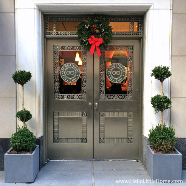 Join me on my NYC Holiday Tour 2015 of Christmas window displays, trees, and lights! Morgenthal Frederics | Hello Little Home