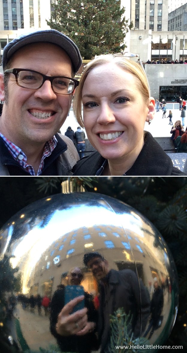 Join me on my NYC Holiday Tour 2015 of Christmas window displays, trees, and lights! Rockefeller Center | Hello Little Home