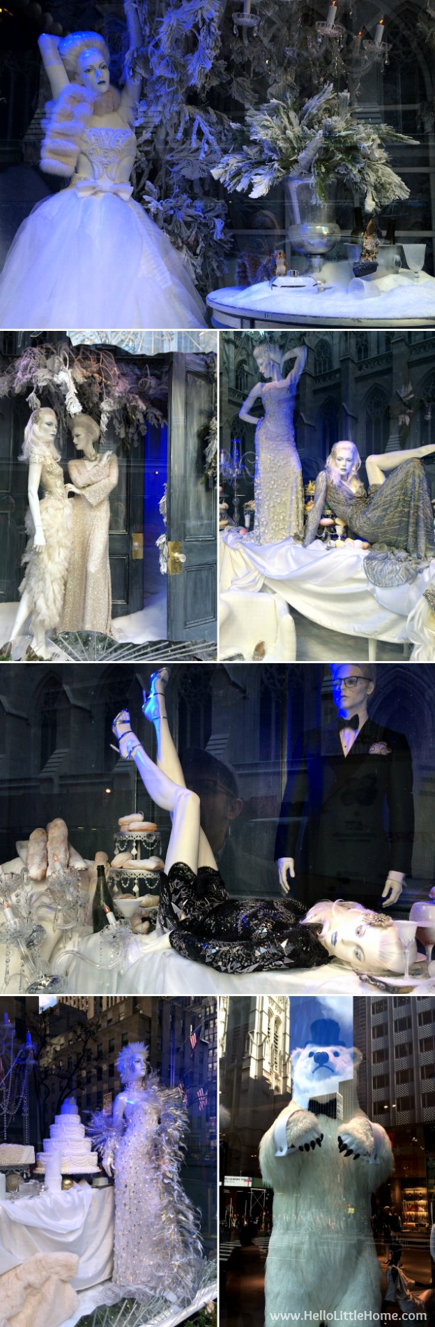 Join me on my NYC Holiday Tour 2015 of Christmas window displays, trees, and lights! Saks Fifth Avenue | Hello Little Home