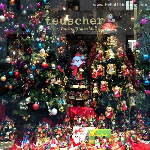 Join me on my NYC Holiday Tour 2015 of Christmas window displays, trees, and lights! Teuscher | Hello Little Home