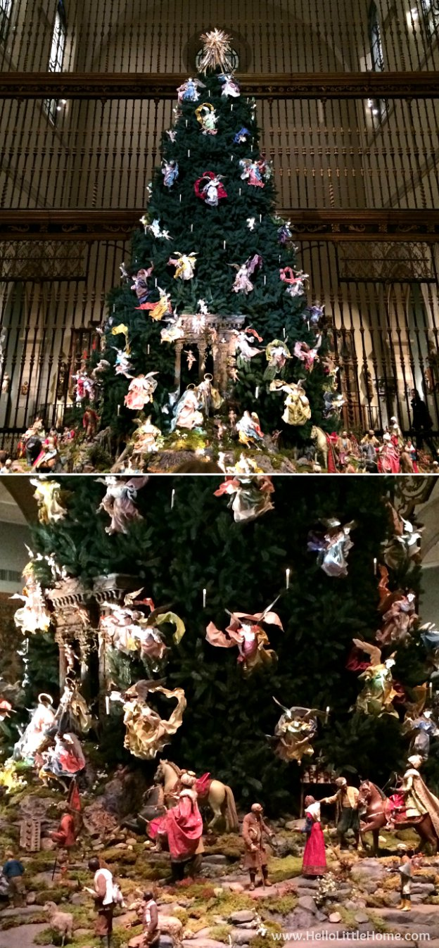 Join me on my NYC Holiday Tour 2015 of Christmas window displays, trees, and lights! The Metropolitan Museum of Art | Hello Little Home