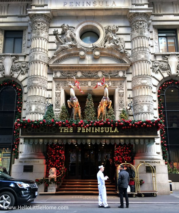 Join me on my NYC Holiday Tour 2015 of Christmas window displays, trees, and lights! The Peninsula | Hello Little Home