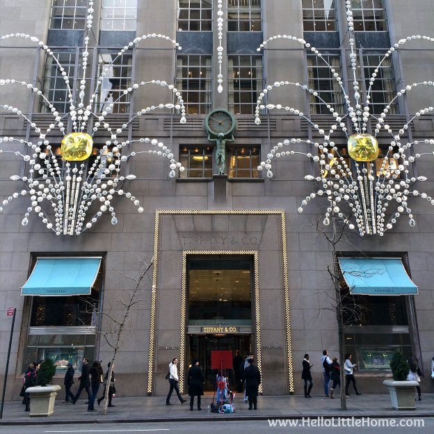 Join me on my NYC Holiday Tour 2015 of Christmas window displays, trees, and lights! Tiffany & Co. | Hello Little Home