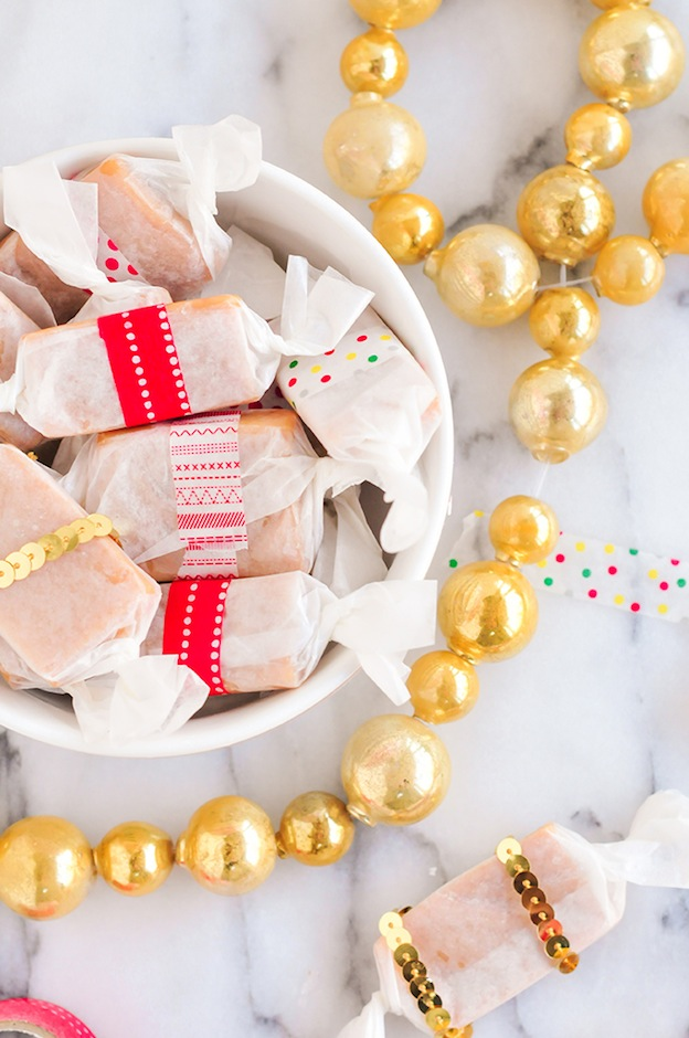 Quick Caramels from Proper, featured on The Ultimate DIY Christmas Gift Guide: 50+ Gift Ideas for Everyone on Your List! | Hello Little Home