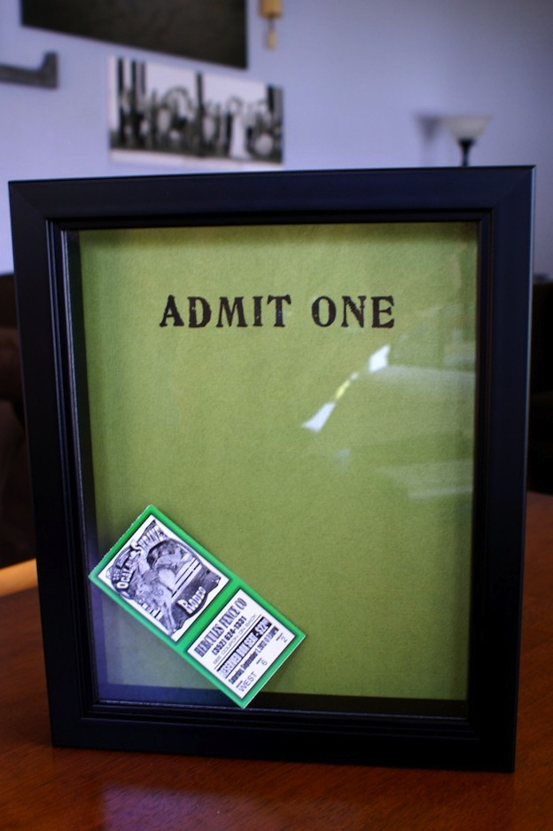 Ticket Stub Memory Box from The Thinking Closet, featured on The Ultimate DIY Christmas Gift Guide: 50+ Gift Ideas for Everyone on Your List! | Hello Little Home
