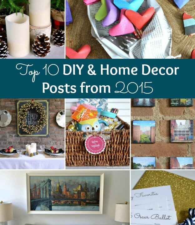 Collage of top diy and decor posts from 2015.