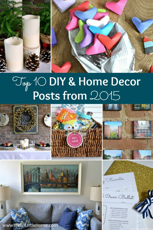 My Top 10 DIY and Decor Posts of 2015 ... learn how to create Canvas Mounted Instagrams, make a Relaxing Gift Basket, update a Picture Frame + more! | Hello Little Home