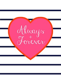 Always & Forever Free Printable for No Sew Valentine's Day Banner | Hello Little Home