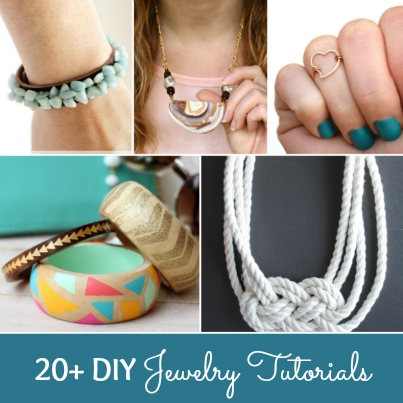 Over 20 gorgeous DIY Jewelry Tutorials! | Hello Little Home