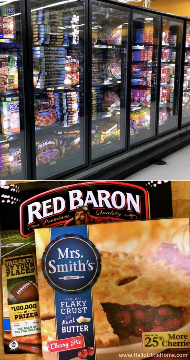 Red Baron Pizza and Mrs. Smith's Pie at Walmart | Hello Little Home