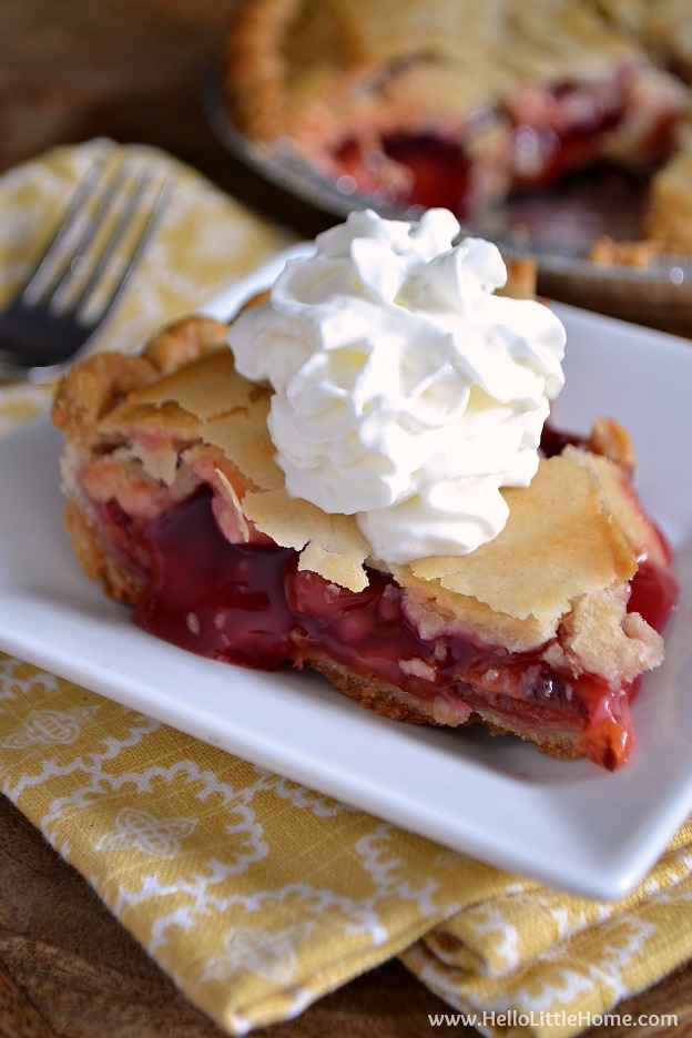 Delicious Mrs. Smith's Cherry Pie! | Hello Little Home
