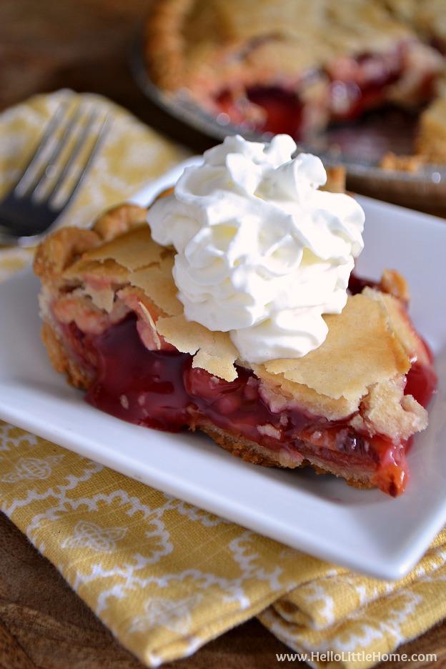 Delicious Mrs. Smith's Cherry Pie! | Hello Little Home