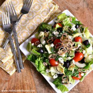 The Ultimate Chopped Salad with Easy Lemon Vinaigrette