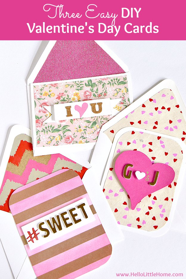 3 Easy Diy Valentine S Day Cards