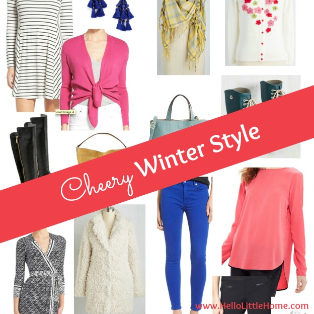 Cheery winter style ideas to help you get through the cold days ahead! | Hello Little Home