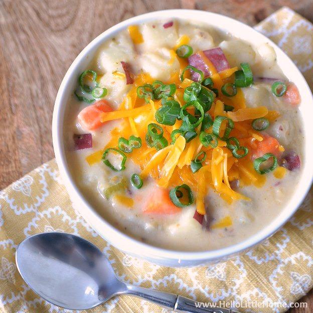 Creamy Rosemary Potato Soup