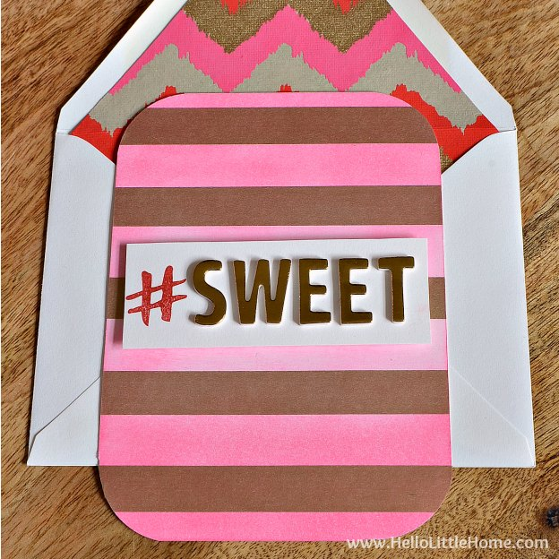 One of three easy DIY Valentine's Day cards ... give one to a friend or your sweetie! | Hello Little Home