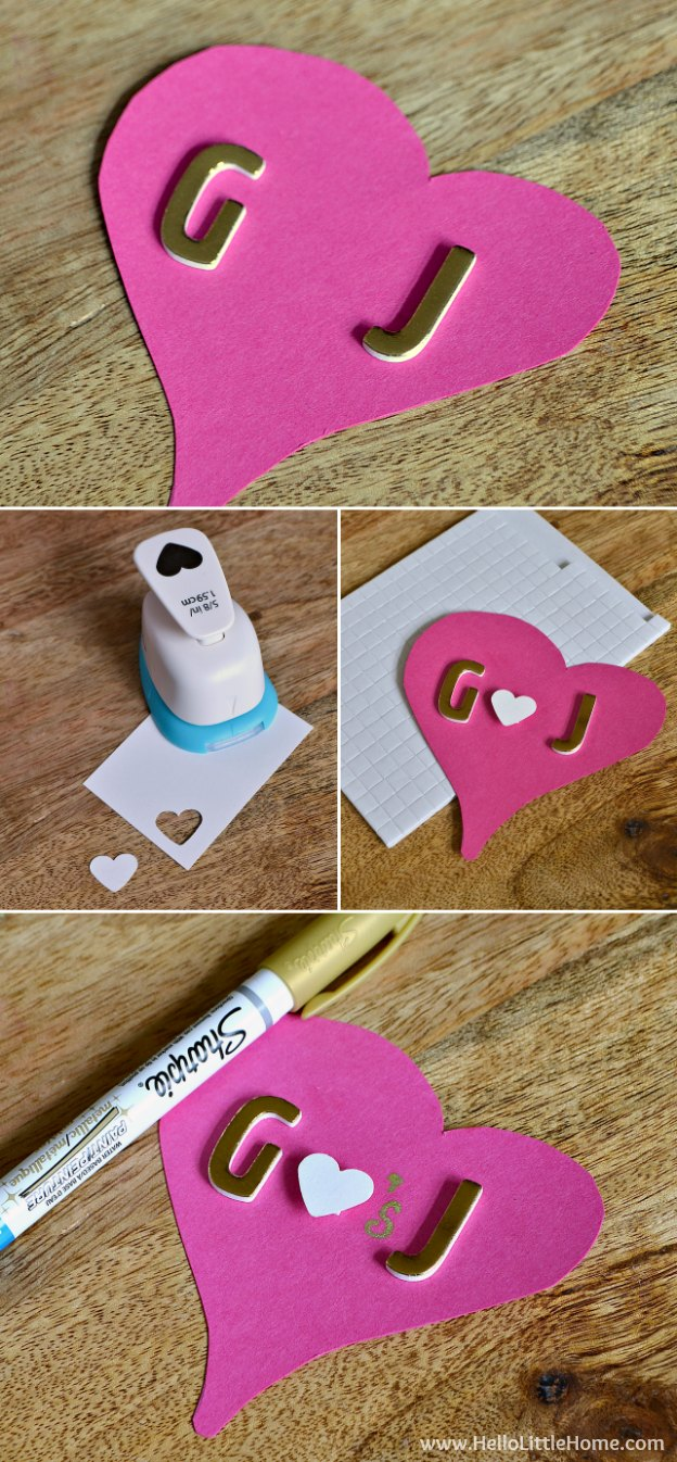 Step-by-step instructions for making 3 easy DIY Valentine's Day cards ... give one to a friend or your sweetie! | Hello Little Home