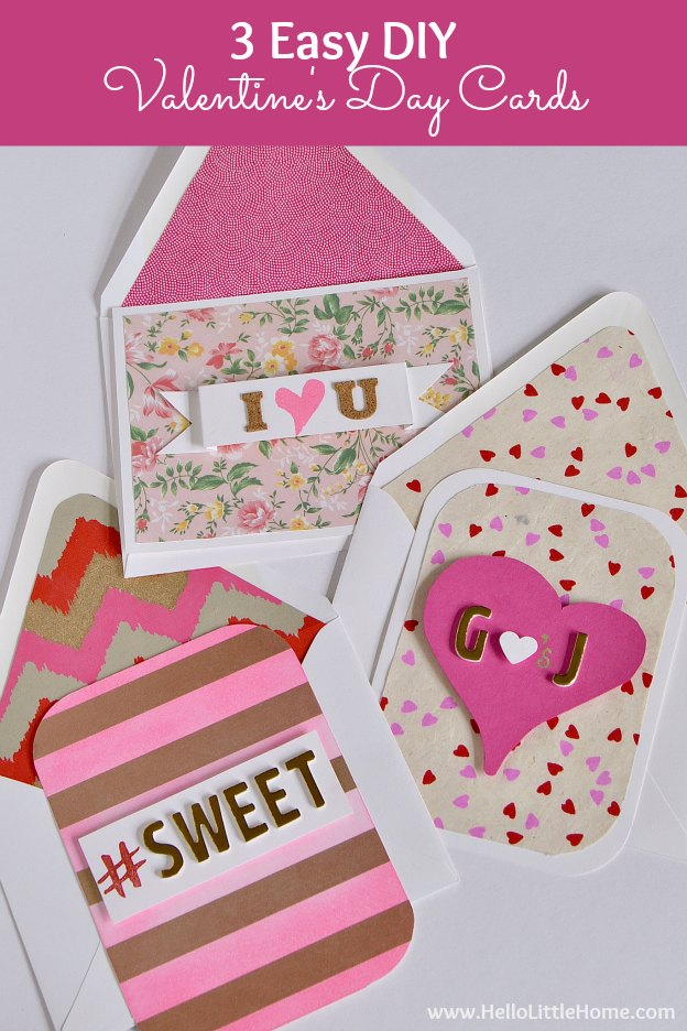 3 Easy Diy Valentine Decorations Under 10: 3 Easy DIY Valentine's Day Cards