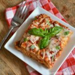 Four Cheese Tomato Basil Crock Pot Lasagna