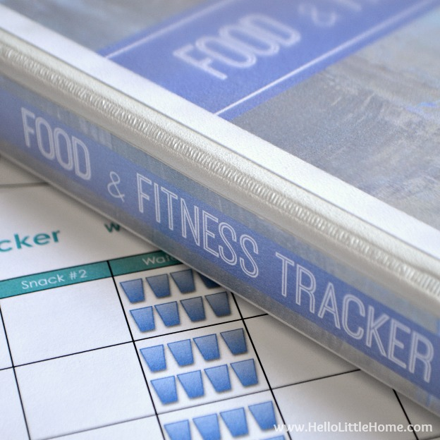 Free Printable Food and Fitness Tracker ... get a free and fun to use daily food and fitness tracker, meal planner, and goals worksheet! Perfect for keeping track of your health and fitness goals! | Hello Little Home